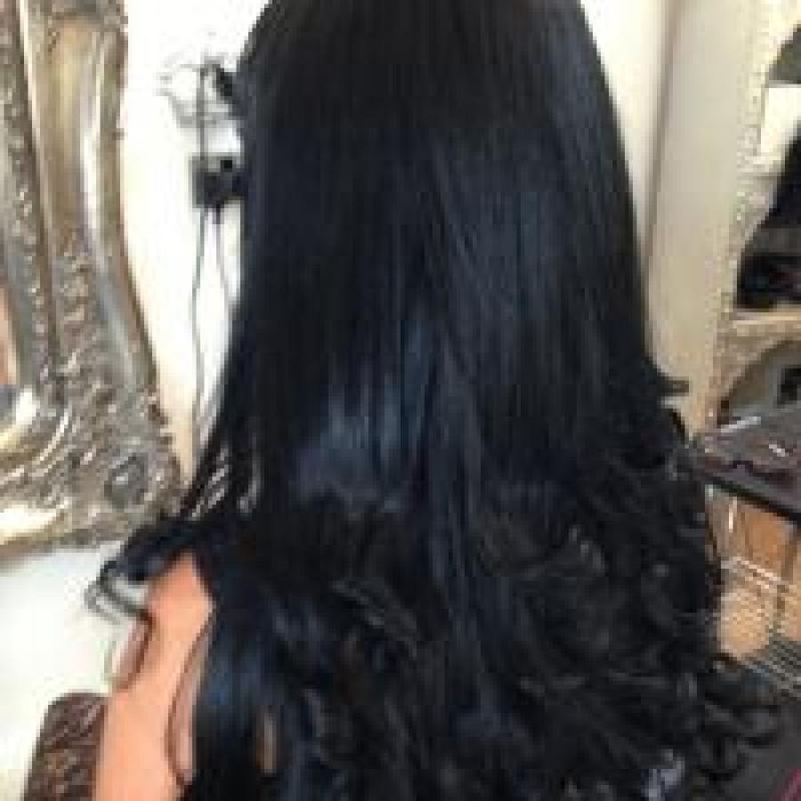 Lush Locks Long Black Hair Extensions Straight 2 Lush