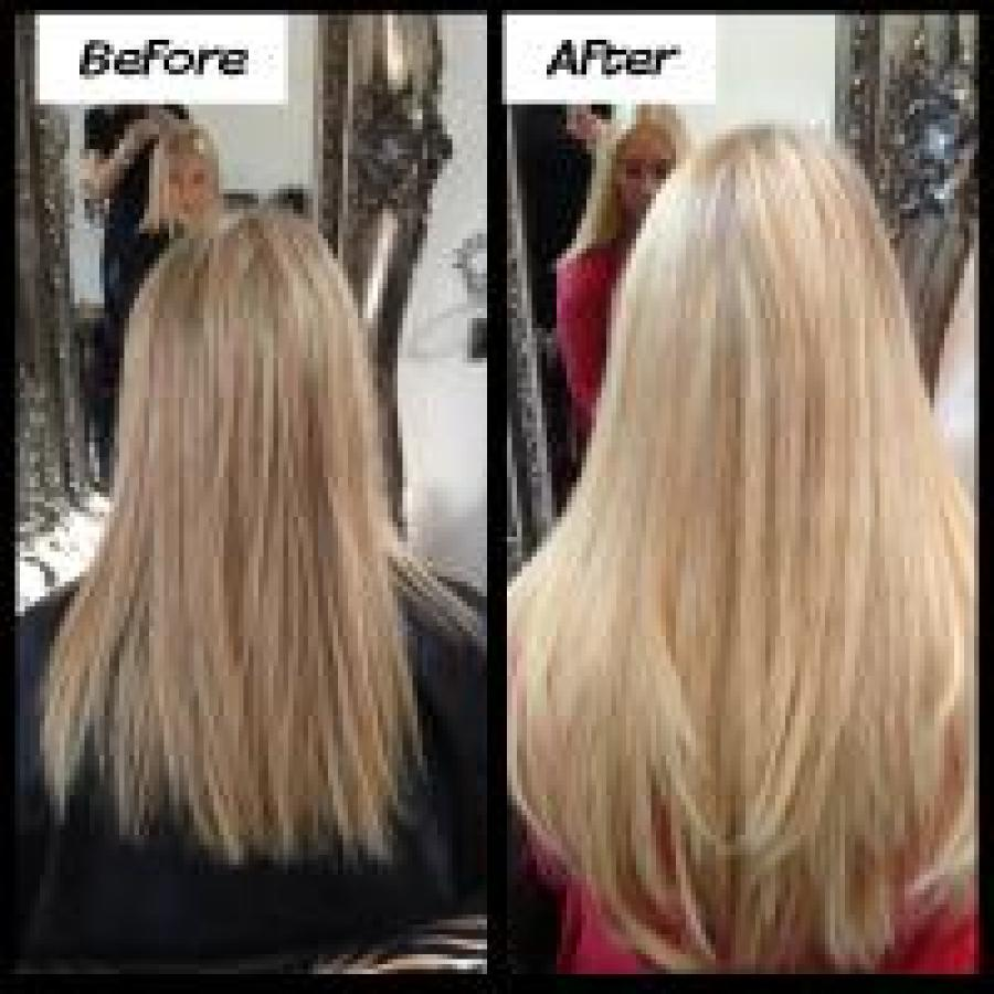 Lush Locks Long Blonde Hair Extensions Before And After Lush